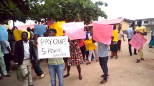 ondo health workers in protest