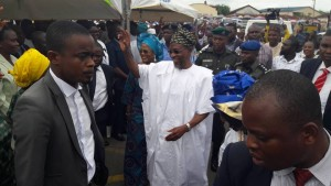 Aregbesola leaving the venue of the programme.