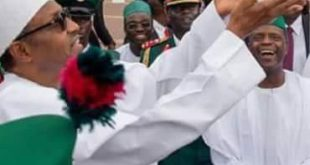 President Buhari throwing the dove at the 56th anniversary of Nigeria's independence.