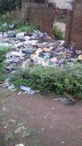 Part of FCHS's land turned to waste dumping site by residents of the area.