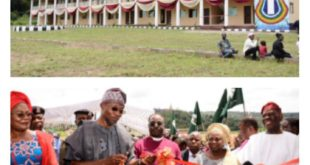 Bisi Akande block at the Evangel College, Otan-Ayegbaju being Commissioned by Governor Rauf Aregbesola.