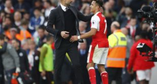 "Britain Football Soccer - Arsenal v Manchester City - Premier League - Emirates Stadium - 2/4/17 Manchester City manager Pep Guardiola and Arsenal's Alexis Sanchez hug at full time Reuters / Eddie Keogh Livepic EDITORIAL USE ONLY. No use with unauthorized audio, video, data, fixture lists, club/league logos or ""live"" services. Online in-match use limited to 45 images, no video emulation. No use in betting, games or single club/league/player publications.  Please contact your account representative for further details."