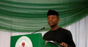 Nigeria's Vice President Osinbajo speaks at the Regional Protection Dialogue Meeting on Lake Chad Basin in Abuja