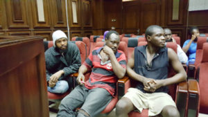 Some of the suspected boko haram commanders arrested in various part of Abuja being arraigned at Federal High Court on Tuesday. PHOTO: JIDE OYEKUNLE