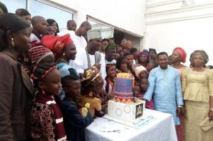 Ooni celebrates birthday with children