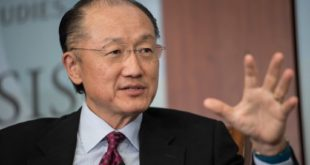 (FILES) This file photo taken on June 1, 2016 shows World Bank president Jim Yong Kim as he speaks during a conversation entitled Preventing The Next Pandemic at the Center for International and Strategic Studies (CSIS) in Washington. The board of the World Bank has unanimously agreed to name Jim Yong Kim to a second term as president, the global lender announced September 27, 2016. Kim had been the only candidate in a process criticized by World Bank staff and campaigners as lacking in transparency and dominated by the United States.  / AFP PHOTO / NICHOLAS KAMM