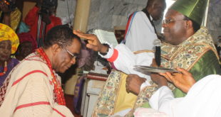 Chief Dr. John Agboola Odeyemi Receiving Anointing