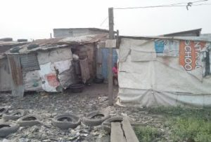 The slum where Bosede and family lived