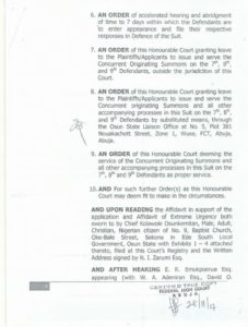 Read Certified True Copy of Court Ruling that Stopped Osun LG Election33