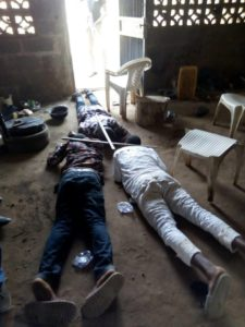 Suspects at the Ilesa ritualist den