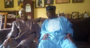Pa Reuben Fasoranti And Chief Olusegun Obasanjo