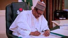 Buhari sign a bill