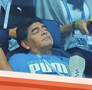 Maradona hit by low blood pressure after Nigeria-Argentina match